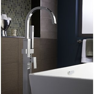 Times Square Single Handle Floor Mounted Bath Faucet With Handshower
