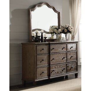 Ophelia & Co. Plains 9 Drawer Dresser with M..