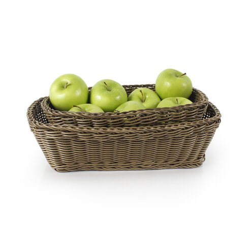 Neoflam 3-Piece Plasket Poly-Wicker Rectangle Baskets Set by Neoflam Americas oTu7ow28