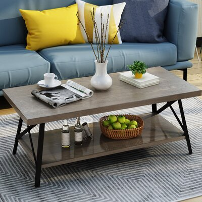 Gamble Coffee Table Color: Gray by August Grove