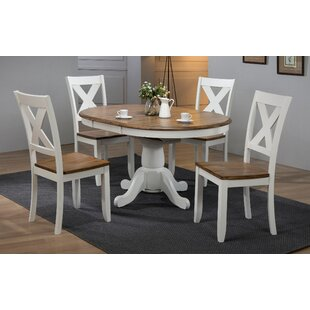 5 Piece Extendable Solid Wood Dining Set ..