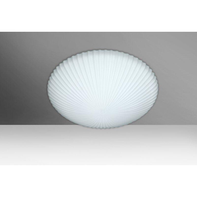 Ebern Designs Mankin White 2 Bulb Outdoor Flush Mount Wayfair