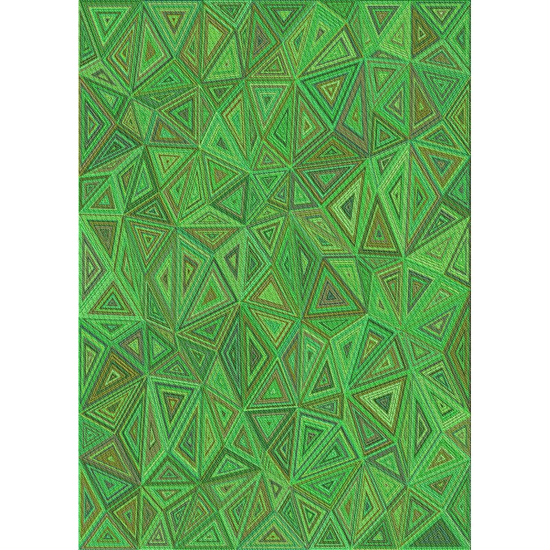 East Urban Home Vollmer Geometric Wool Green Area Rug Wayfair