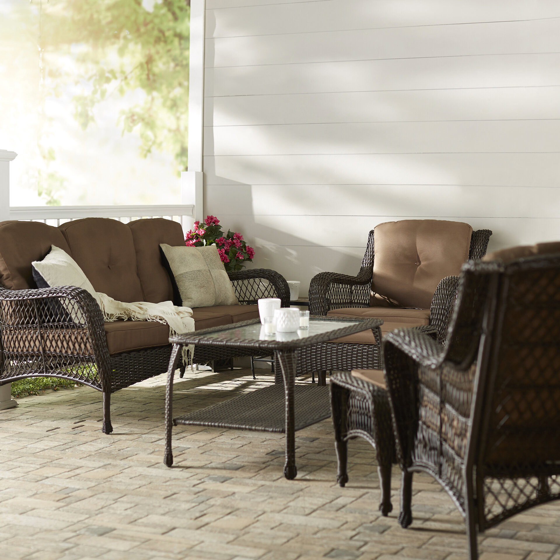 Darby Home Co Herrin 6 Piece Rattan Sofa Set With Cushions Reviews