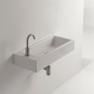 "Bathroom Sinks That Mount On The Wall ws bath collections whitestone hox 27.6"" wall mount bathroom sink"