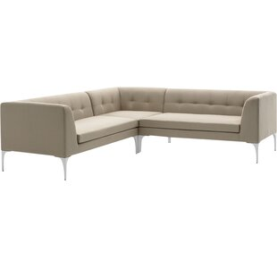 Wade Logan George Sectional with Cushions