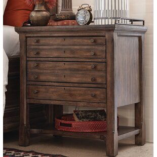 Darby Home Co Aadi Open 3 Drawer Nightstand