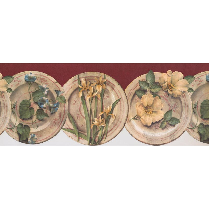 Retroart Flower Kitchen Floral 15 X 9 5 Wallpaper Border Wayfair