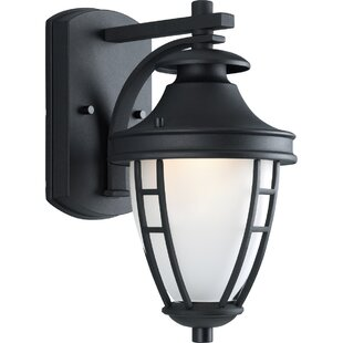 Alcott Hill Triplehorn 1-Light Wall Black Classic Lantern