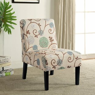 Willam Cotton Blend Upholstered Parsons Chair in Beige by Red Barrel Studio