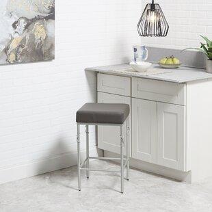 Dabbs Upholstered 24''Bar Stool Ebern Designs