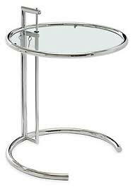 Orman Adjustable Height End Table With Tempered Glass Top
