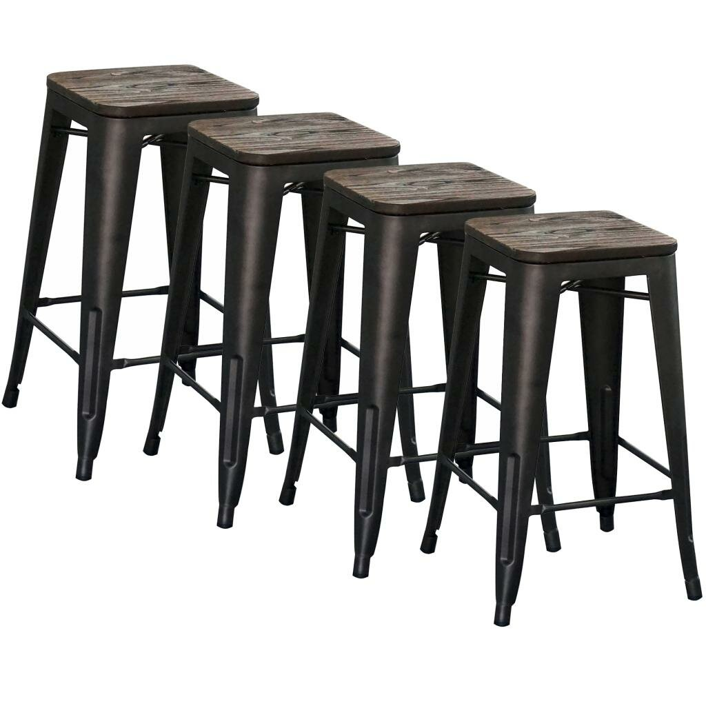 Williston Forge Wivenhoe Counter Stool 26 In Gunmetal Reviews