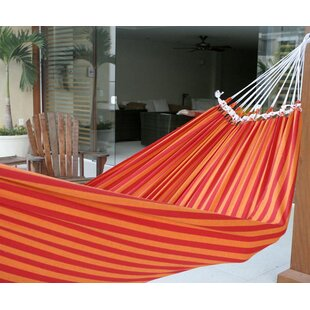 Hand-Crafted Striped Cotton Tree Hammock