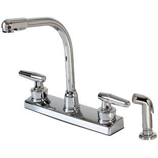 Hardware House Double Handle Kitchen Faucet with Side Spray