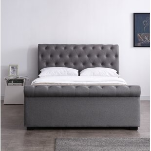 Straker Upholstered Sleigh Bed By Ophelia & Co.