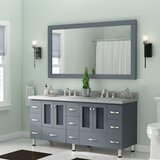 Kettner 73 Double Bathroom Vanity with Mirror by Latitude Run®