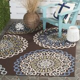 Henderson Blue/Chocolate/Cream/Sage Indoor/Outdoor Area Rug by Charlton Home