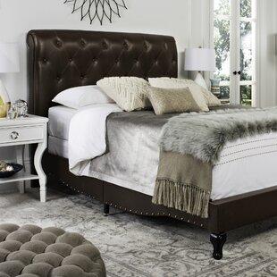 Allegany Tufted Upholstered Sleigh Bed