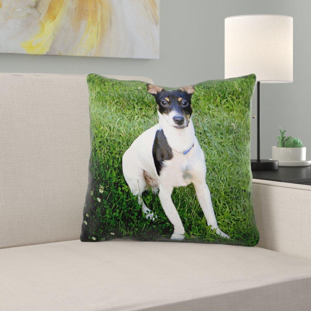 East Urban Home Toy Fox Terrier Throw Pillow Wayfair