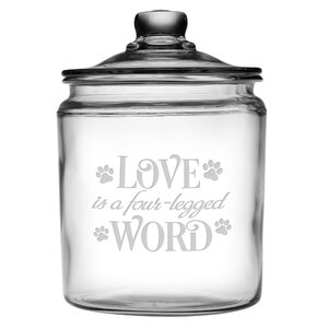 Love is a Four-Legged Word Half Gallon Treat Jar