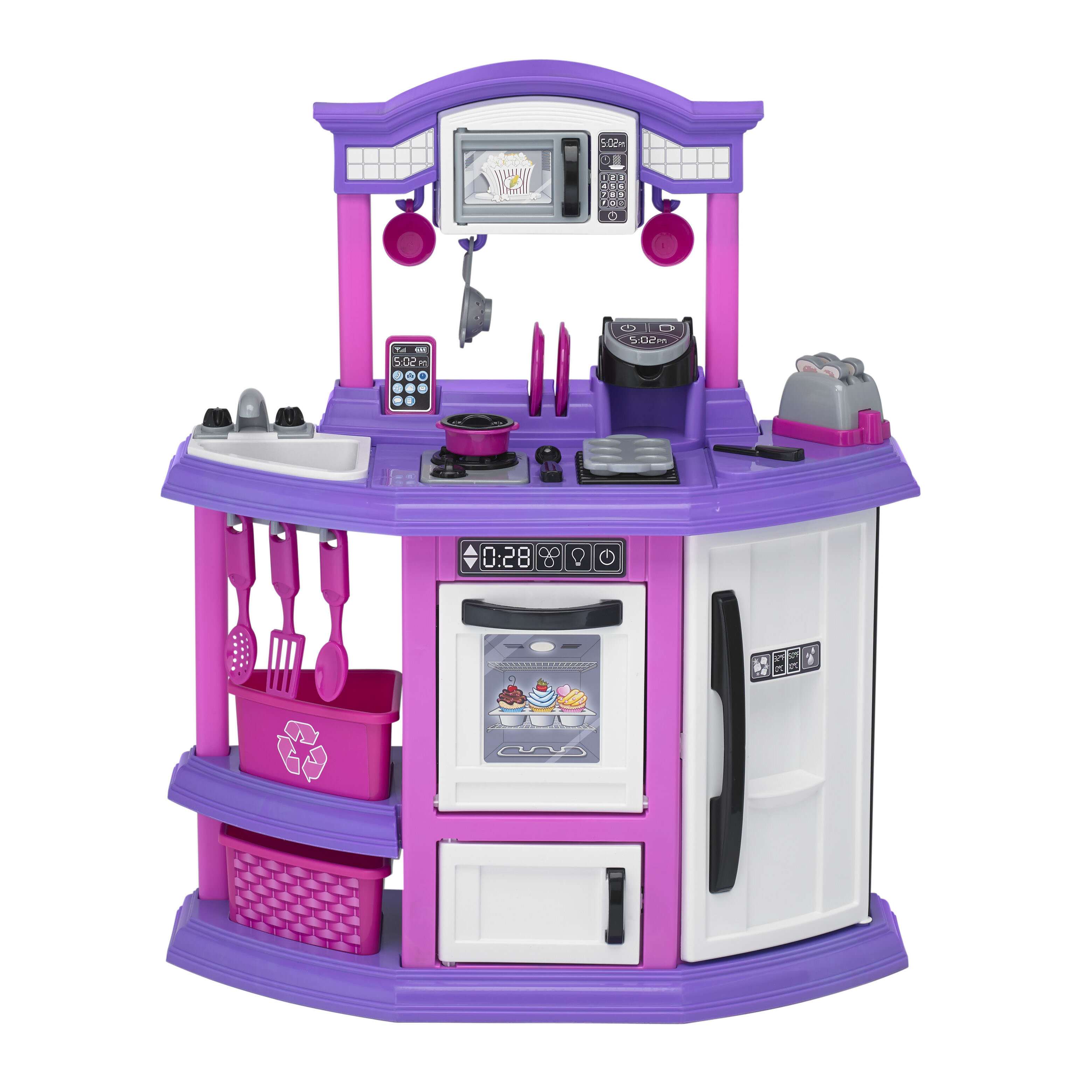 Dolls Kitchen Furniture Accessories For Doll Dining Table Chairs Dinnerware Cabinet Furnitures Doll Pink Reliable Performance Dolls & Stuffed Toys Dolls Accessories