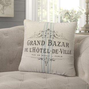 Mandragore French Linen Throw Pillow