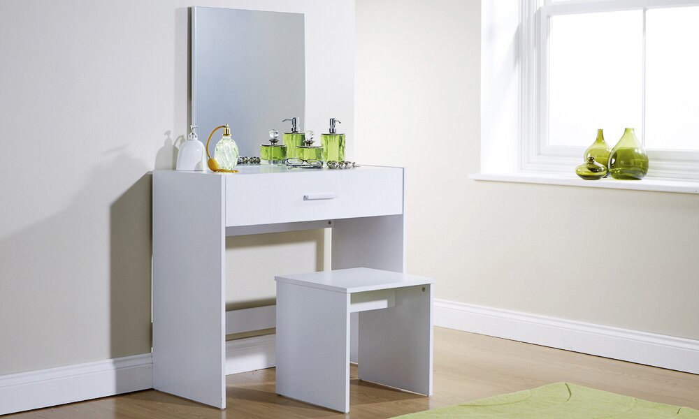 Uli Dressing Table Set with Mirror. Bedroom Furniture Sale   Wayfair co uk