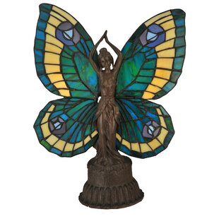 Butterfly Animals Lady 17 Table Lamp
