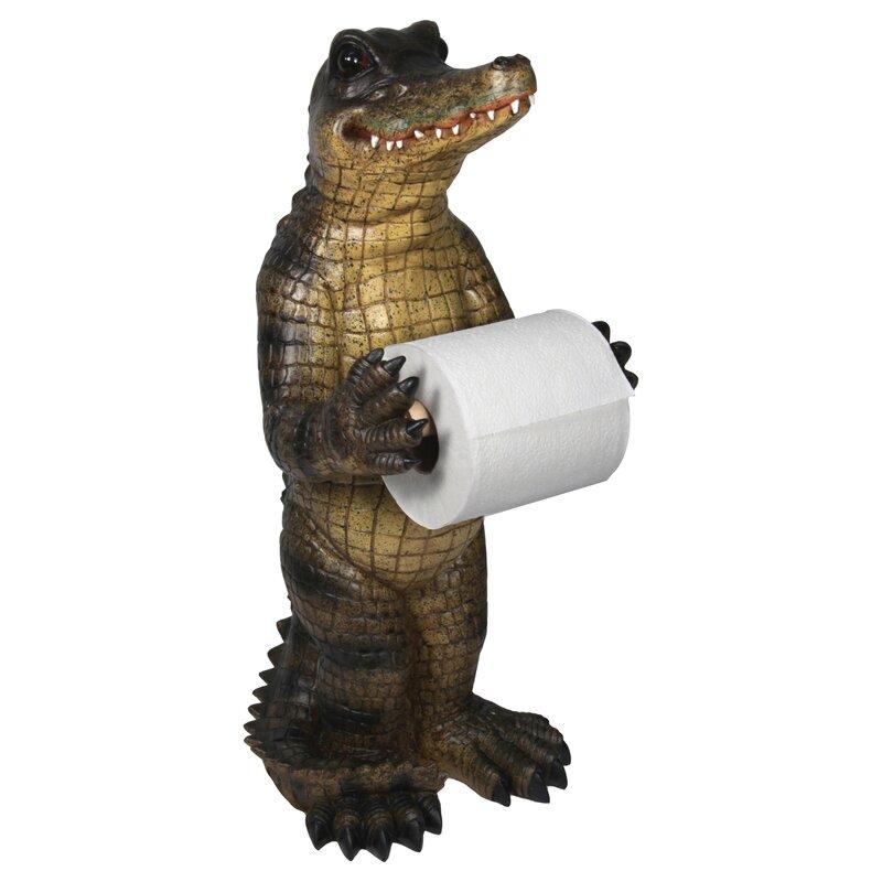 alligator free standing toilet paper holder