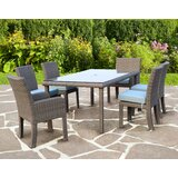 Losey 7 Piece Dining Set with Cushion