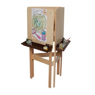 Natural Environment Adjustable Board Easel by Wood Designs