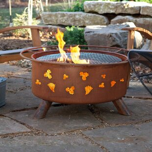 Classic Grapevines Steel Wood Burning Fire Pit By Patina Products