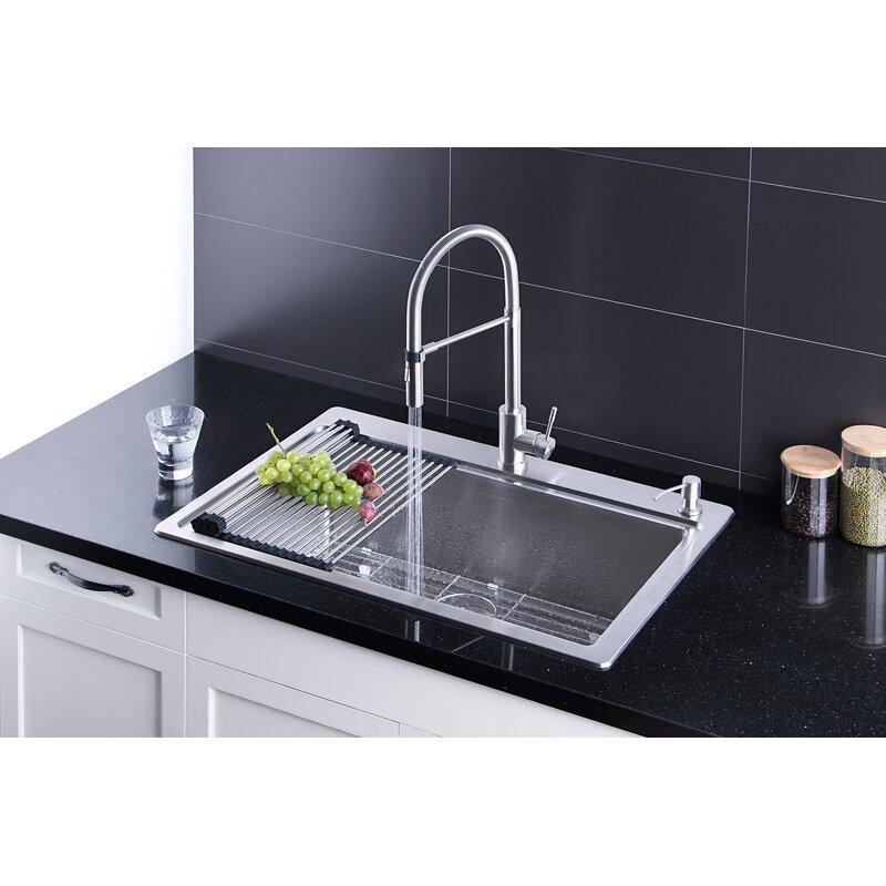 Afa Stainless Hand Made Sink Faucet Combo Wayfair Ca