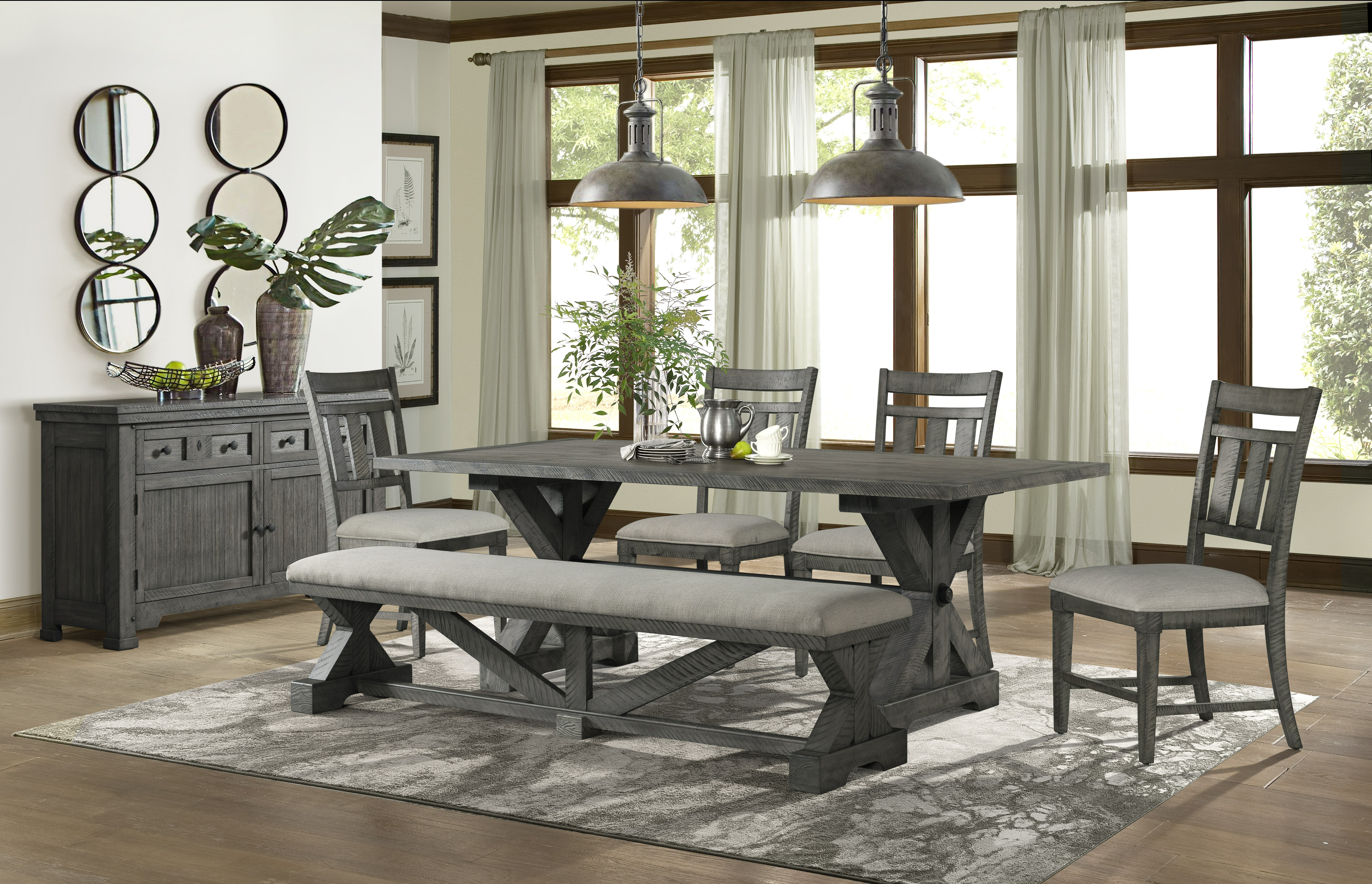 Cool Tandy 6 Piece Solid Wood Breakfast Nook Dining Set Andrewgaddart Wooden Chair Designs For Living Room Andrewgaddartcom
