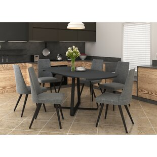 Review Gaston Extendable Dining Set With 6 Chairs