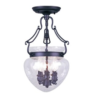 Fleur De Lis Living Braidwood 3-Light Urn..