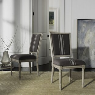 Rosemary French Brasserie Upholstered Dining Chair (Set of 2) One Allium Way
