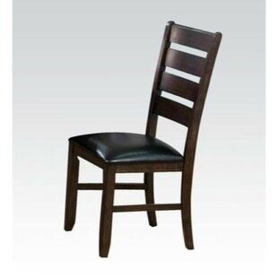 Molinaro Ladder Back Solid Wood Dining Chair (Set of 2)
