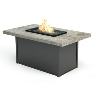 Homecrest Outdoor Living Chat Polyresin/Aluminum Propane/Natural Gas Fire Pit