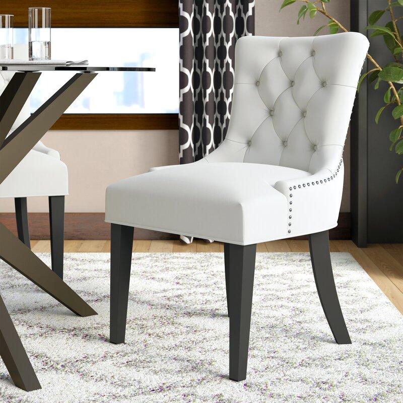 Corrigan Studio Carlton Wood Leg Upholstered Dining Chair Reviews