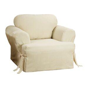Cotton Duck T-Cushion Armchair Slipcover