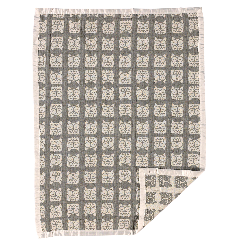 5d32e3a0d452 LivingTextilesBaby Muslin Jacquard Owl Blanket   Reviews