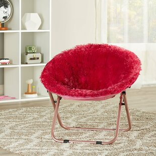 Brimmer Plush Faux Fur Saucer Kids Chair by Isabelle & Max