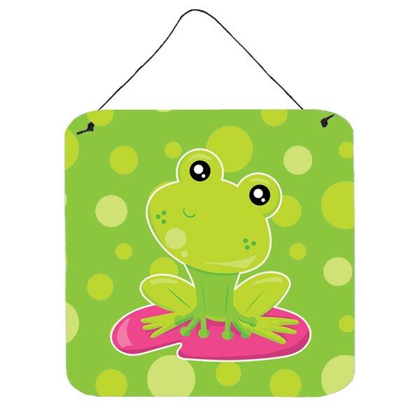 Harriet Bee Frog on Lily Pad Polkadots Wall Décor   Wayfair