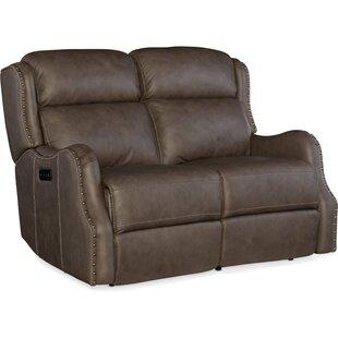 Hooker Furniture Sawyer Power Leather Reclining Loveseat