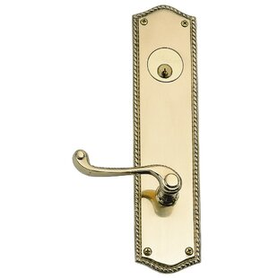 Trafalgar Single Cylinder Entrance Leverset by BRASS Accents