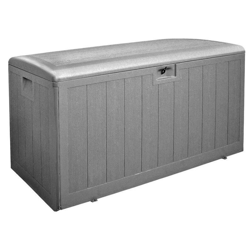 Plastic Development Group Outdoor 130 Gallon Resin Deck Box
