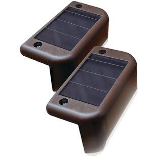 Maxsa Innovations Solar-Powered 1 LED Deck Light Set (Set of 4)