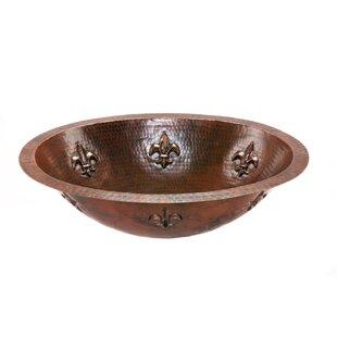 Order Fleur De Lis Metal Oval Undermount Bathroom Sink ByPremier Copper Products